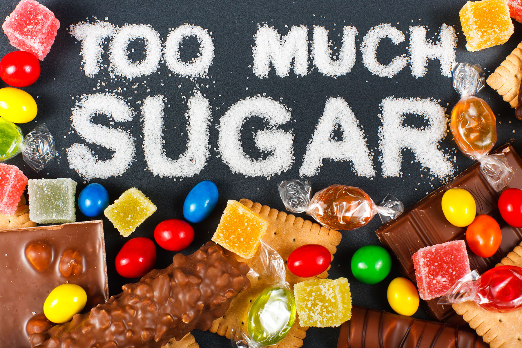 Unhealthy food concept - sugar
